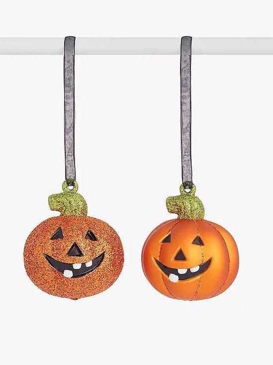 John Lewis & Partners Halloween Shatterproof Pumpkin Bauble, Assorted, Bundle of 2 £5.00