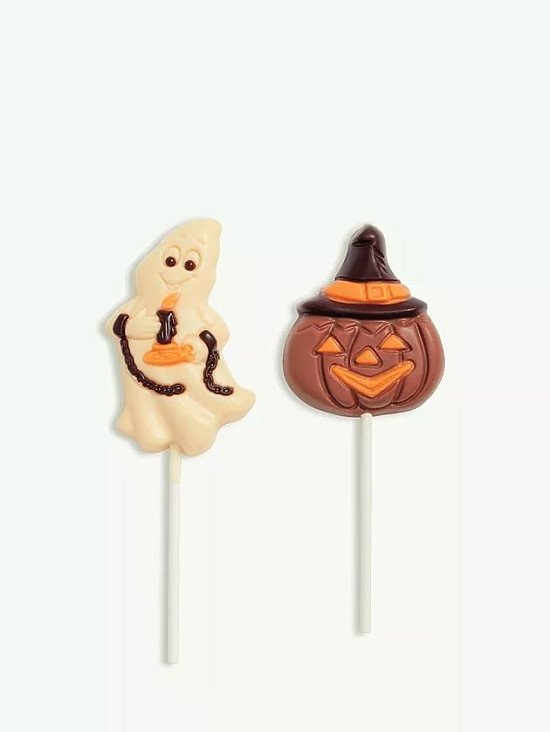 Halloween Milk & White Chocolate Ghost & Pumpkin Lollies, 3x 35g, £6.00!