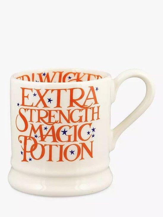 Emma Bridgewater 'Magic Potion For All ' Half Pint Mug, 300ml, Orange/Multi £19.95!