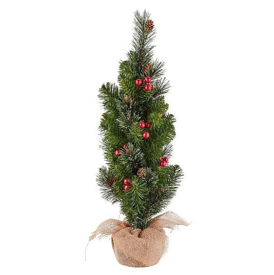 2ft Pre-Decorated Berry Tabletop Christmas Tree - £12.00!