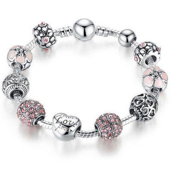 Silver Love And Friendship Charm Bracelet Set - £6.99 was £19.99