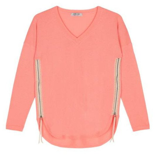 £99.00 was £219.00 - 55% Off Coral Zip Easy Fit Jumper