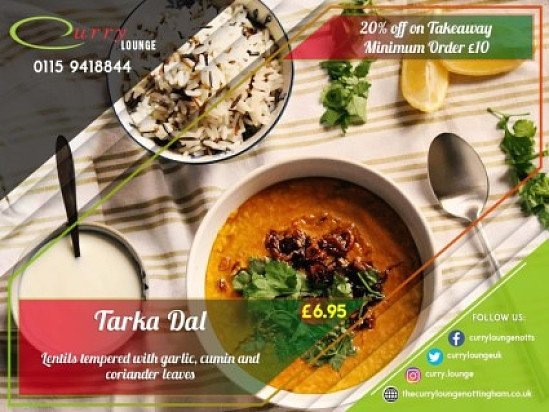 20% off takeaway on orders over £10!
