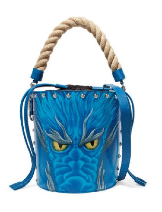 J.W.ANDERSON Printed leather bucket bag - 60% off