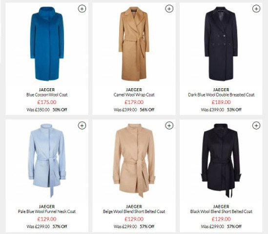 Nearly 60% Off All Winter Coats - Jaeger Sale UK