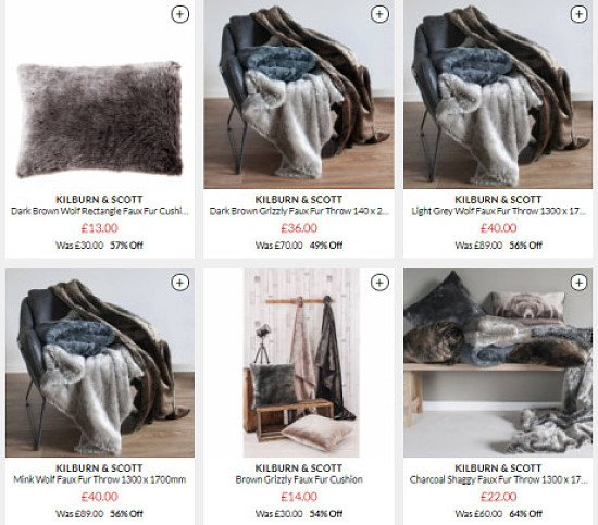 Gorgeous Faux Fur Kilburn & Scott Products - 57% OFF!