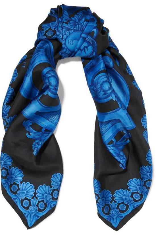 Versace Printed Silk Satin Scarf - £93