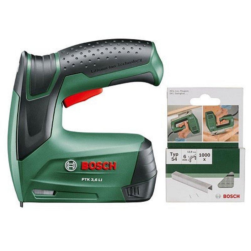 Get 50% OFF - Bosch PTK 3.6 LI 3.6v Cordless Staple Gun + 1000 Extra Staples!