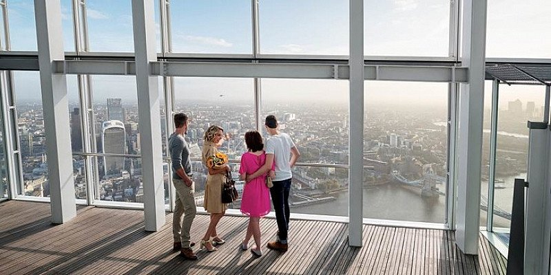 TravelZoo Christmas Gift Guide includes  - The View from The Shard: flexible ticket £20!