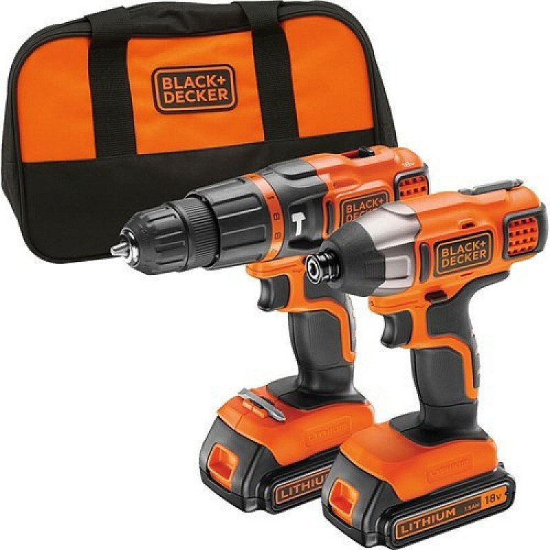 CLEARANCE: Black & Decker Cordless Combi Drill & Impact Driver