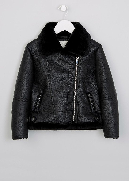 Up To 50% OFF Sale - Including this Girls Aviator PU Jacket SAVE £10.00!