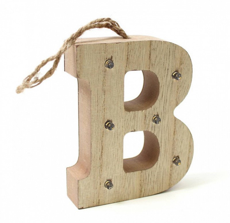 Save £3 on these adorable Hanging Wooden LED Letters