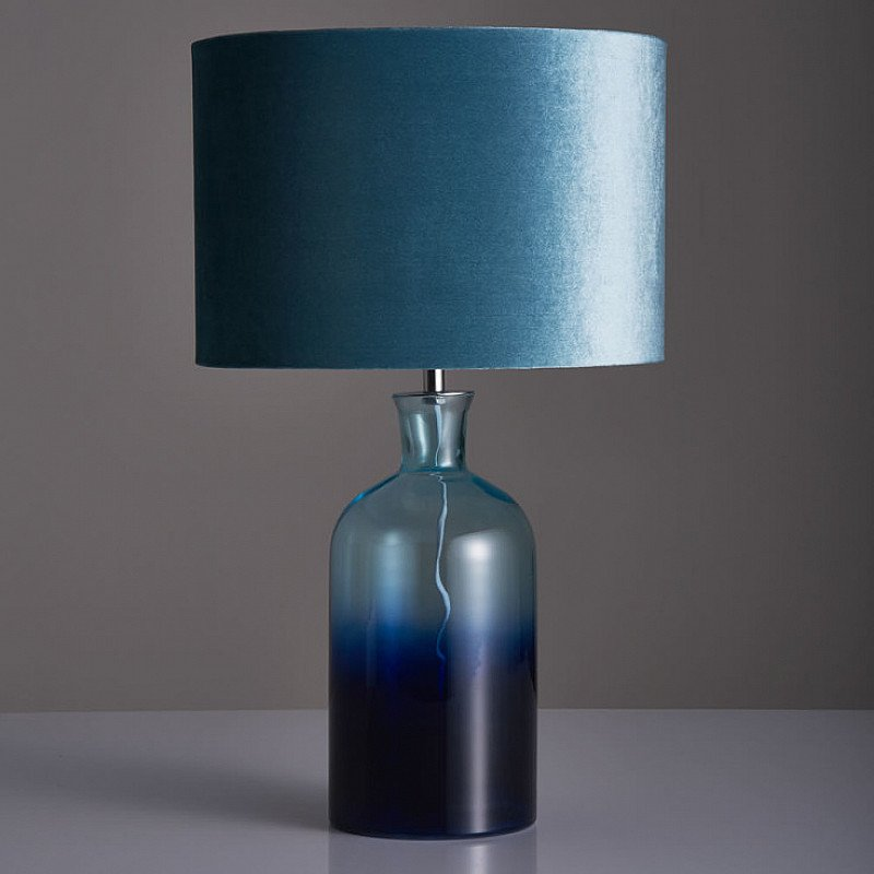 This Beautiful Teal Ombre Table Lamp