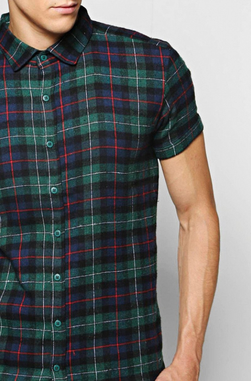 This Stylish Short Sleeve Check Shirt is over 50% off