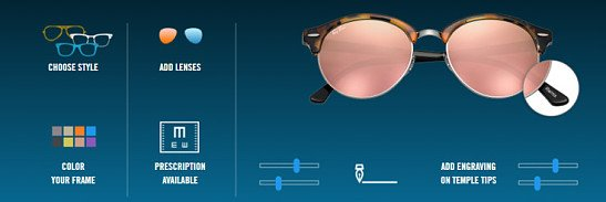 Customise your own Ray-Ban