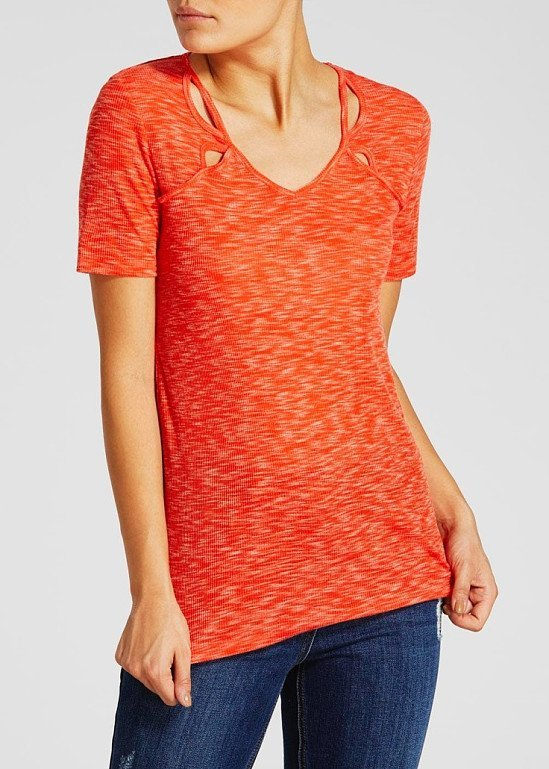 This Cut Out Textured T-Shirt is only £2.50