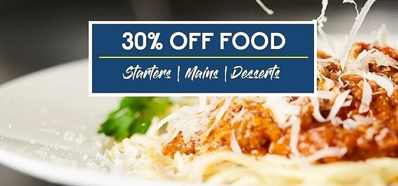 Enjoy 30% OFF FOOD and more amazing offers online!