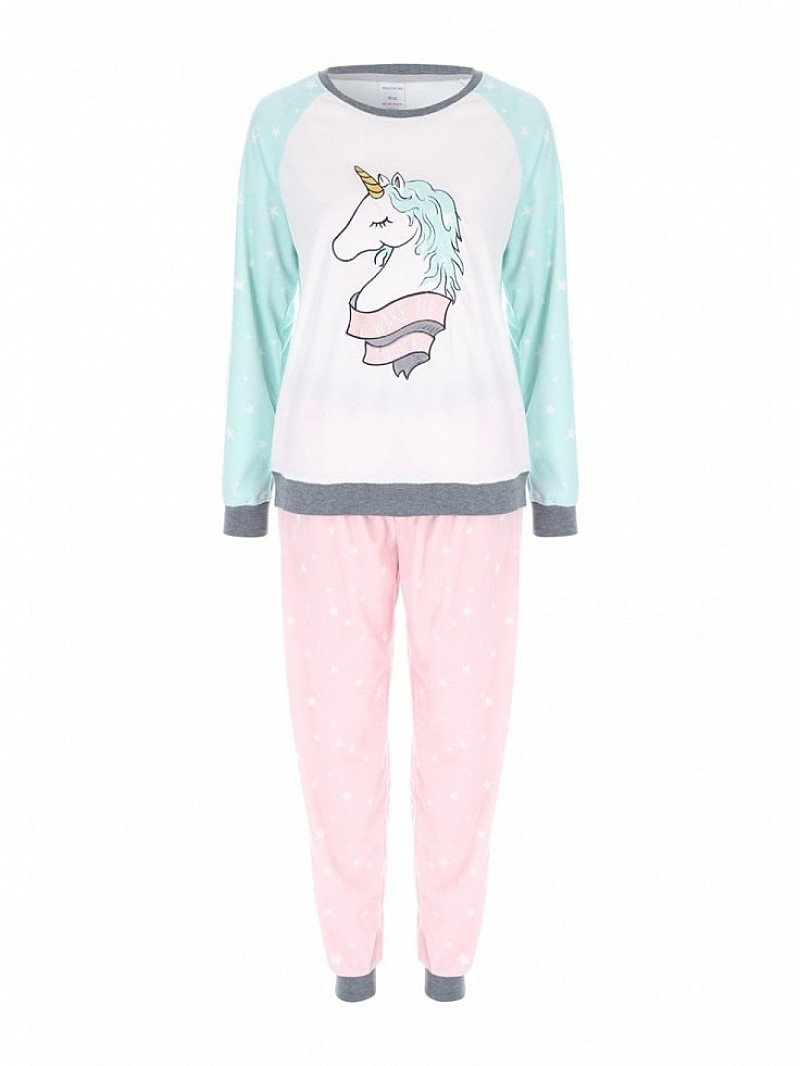 Womens Aqua Unicorn Twosie Was £18, Now Only £12