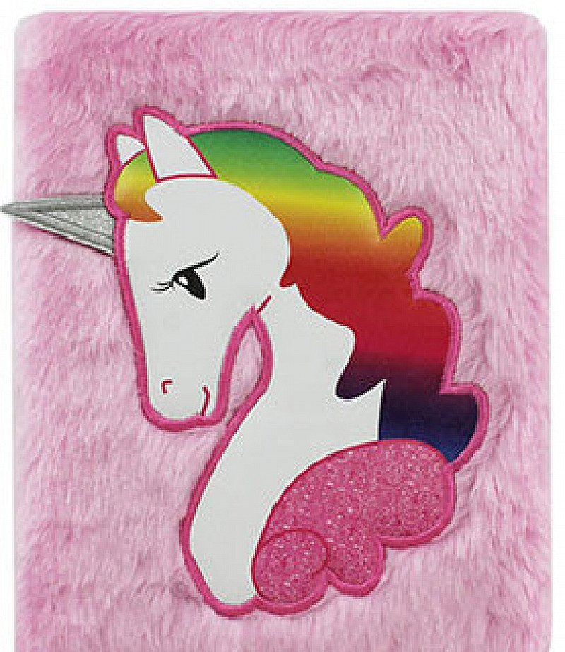 A5 Unicorn Plush Notebook Only £4