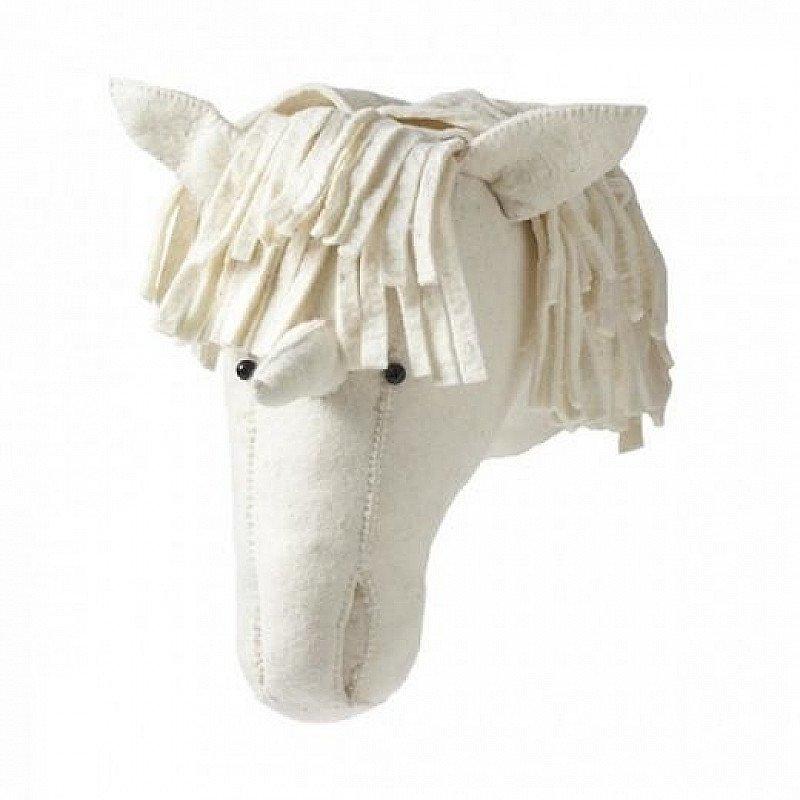 Unicorn Felt Animal Head Wall Decoration