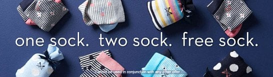 3 for 2 on all Socks