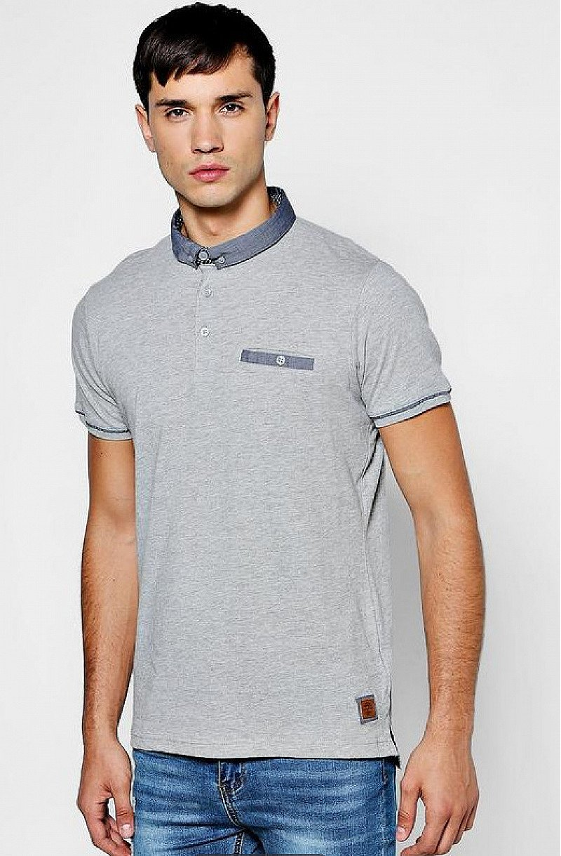 £9 off this Woven Collar Jersey Polo T-Shirt