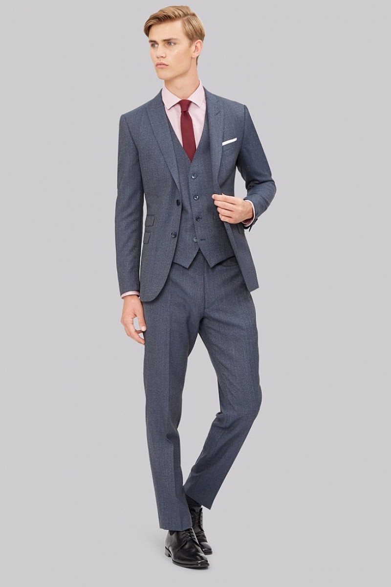 Save £200 on this Stylish French Connection Slim Fit Airforce Texture Suit