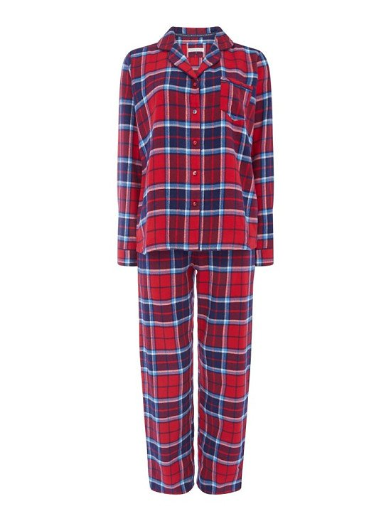 Save £27 on this Red Check PJ Set With Eyemask included
