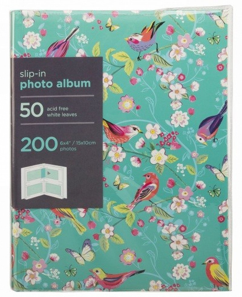 Buy 1 get 1 Half Price on wonderful Photo Albums - Turquoise Bird and Floral Album!