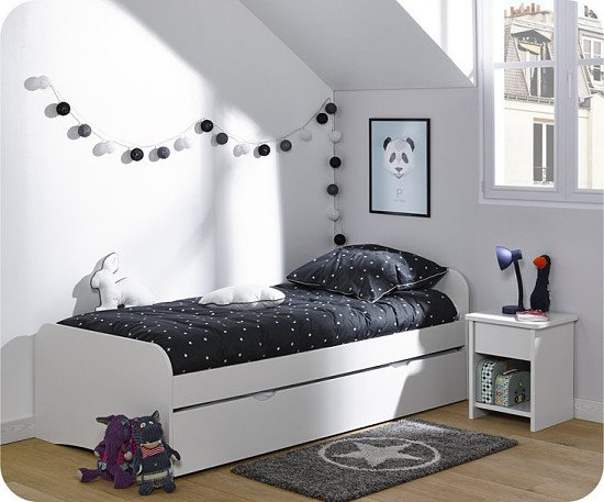 Bed frame with underbed and storage, White - £235!