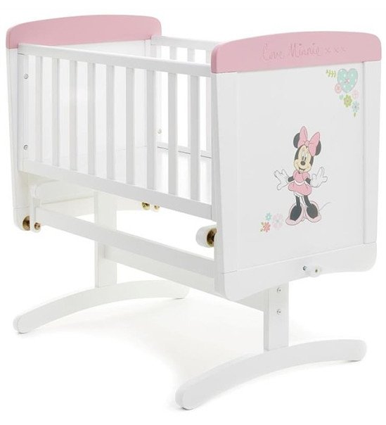 DEAL - Obaby Love Minnie Mouse Gliding Crib - White With Pink Trim: Save £40.99!
