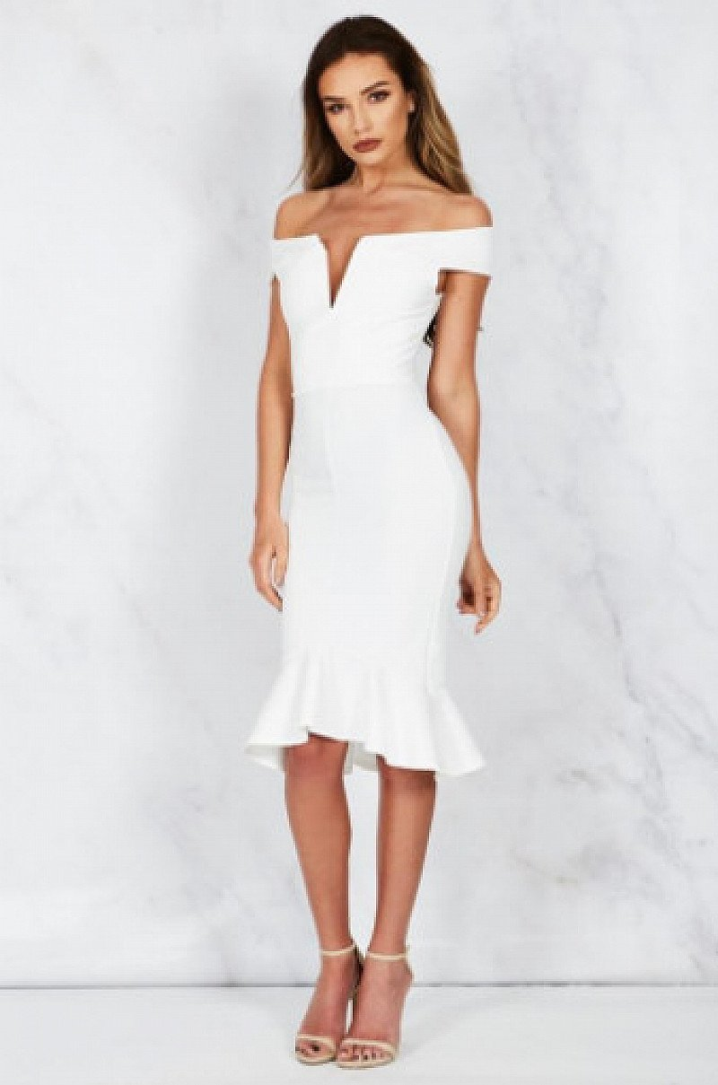 View the £20 or less section - Including H!RN WHITE PEPLUM BARDOT DRESS!