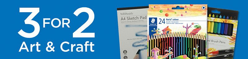 3 for 2 on our Arts & Crafts range!