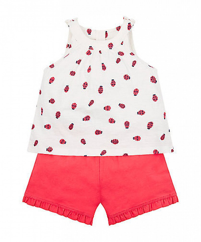 Shop 2 for £12 on our baby clothes - Including Mothercare ladybird vest and shorts set!