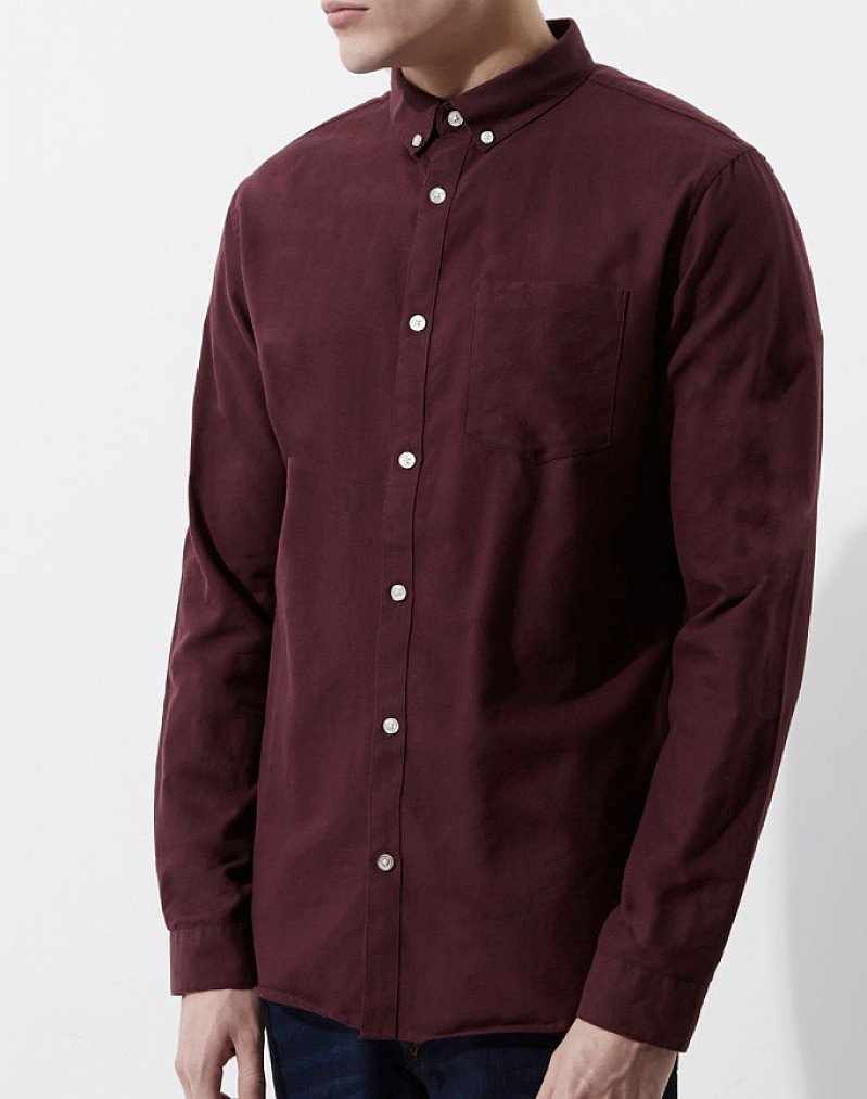 Buy 2 Oxford shirts for £30.00 - Including this Burgundy casual Oxford shirt!