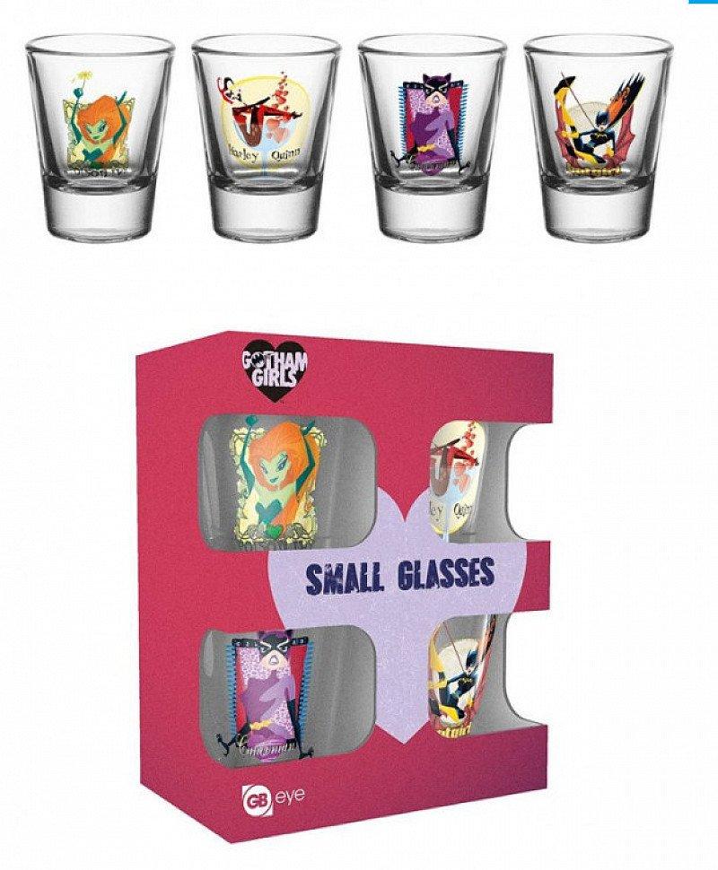 DC COMICS GOTHAM GIRLS SHOT GLASSES - Save £2.00!