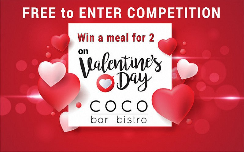 Win a Meal for 2 People on Valentine's Day - worth £53.90