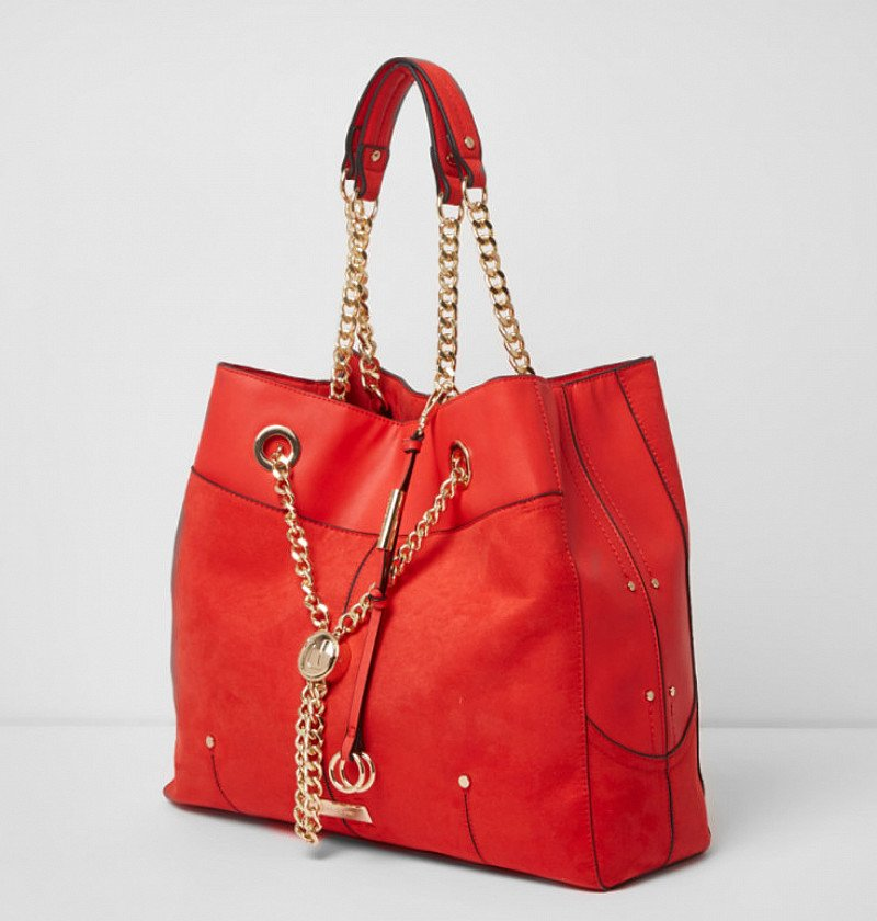 NEW IN - Red chain RI lock winged tote bag £42.00!