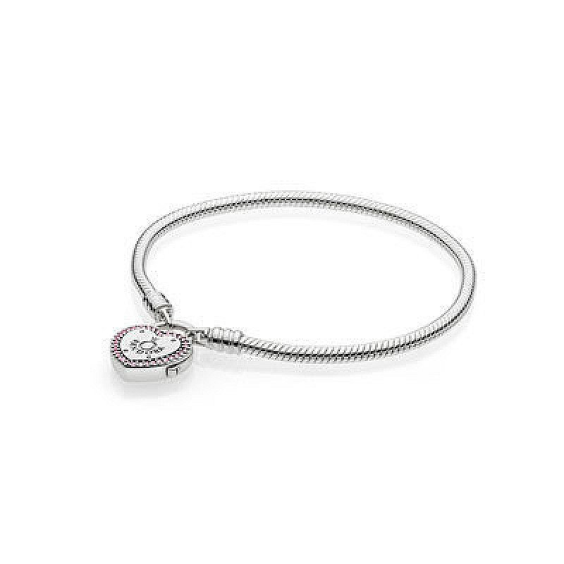 VALENTINES DAY GIFT IDEAS - Silver Lock Your Promise Heart Clasp Bracelet £65.00!