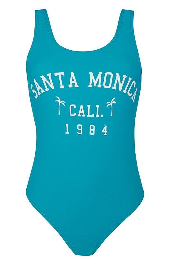 NEW ARRIVALS - Blue Slogan Swimsuit: £4.00!