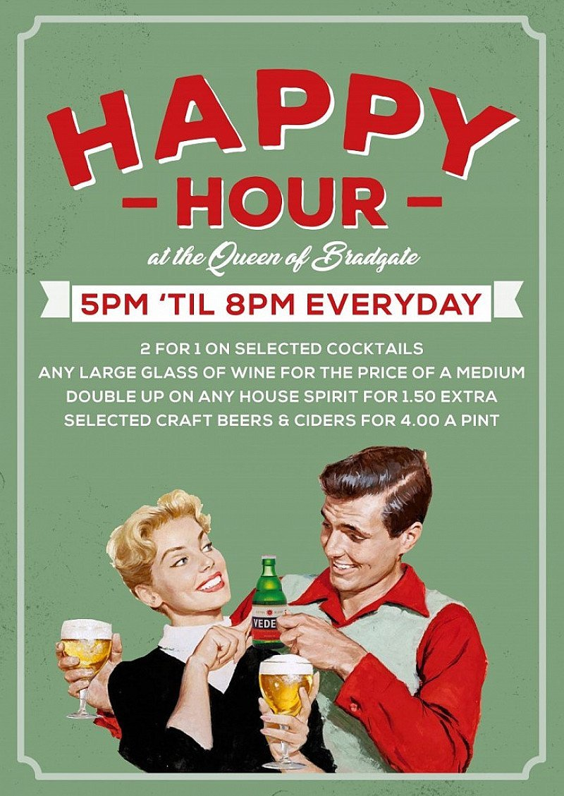 HAPPY HOUR - 2-4-1 on selected cocktails every day!