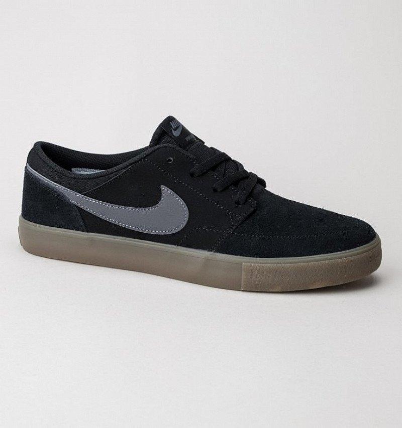 Nike SB Portmore II Solar Trainers Black-Dark Grey: SAVE £10.00!