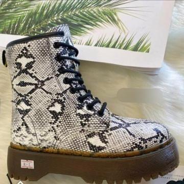 Irina Snake Print Platform Boots £25.99