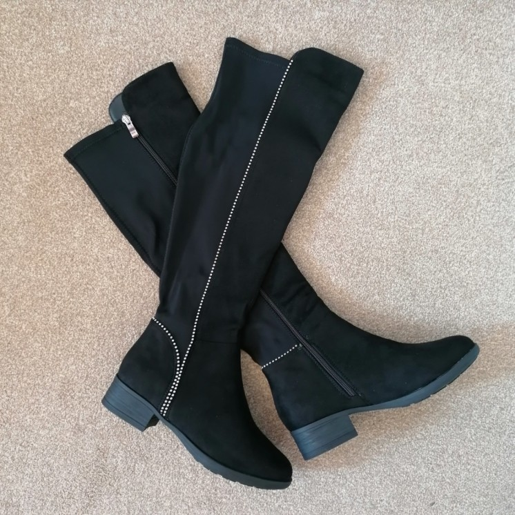 Mila Knee High Boots - Faux Suede (DF)